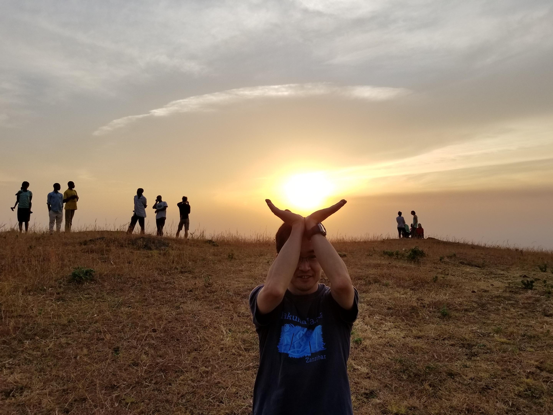 ウガンダでの夕日と